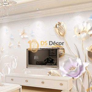 Tranh dán tường hoa giả ngọc 5D036 dán phòng khách