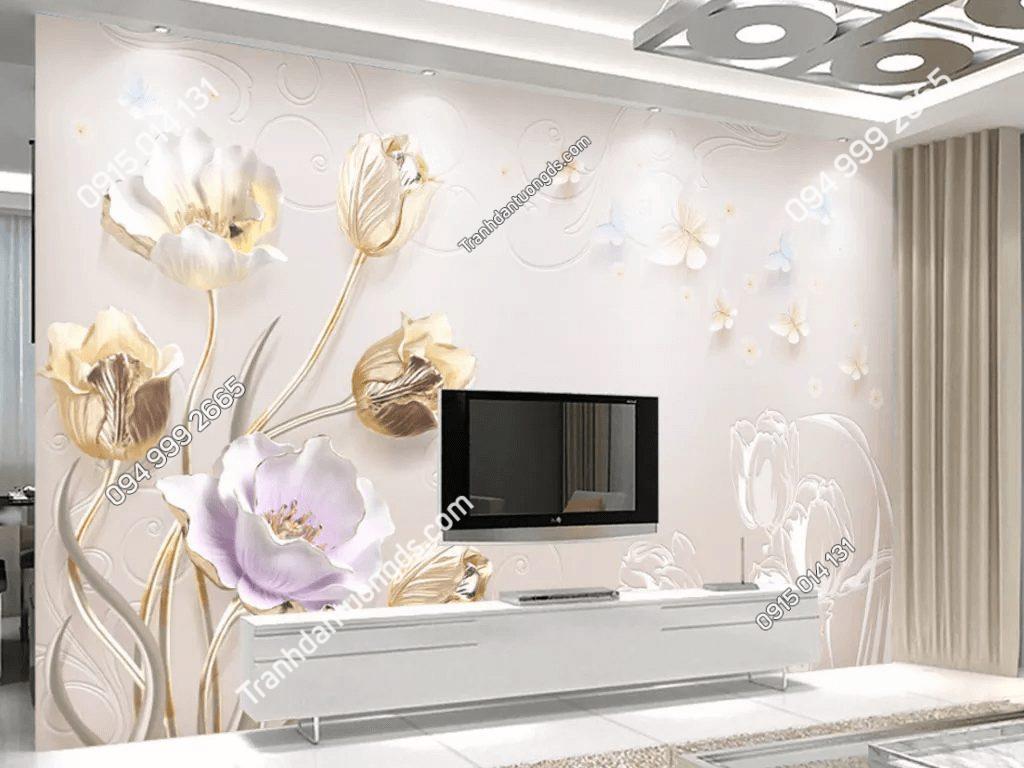 Tranh dán tường hoa giả ngọc 5D036