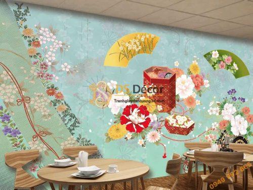 Tranh dán tường phong cách Nhật 5D040 dán quán ăn