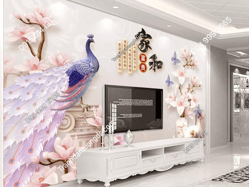 Tranh dan tuong chim cong hoa su DS_17483298