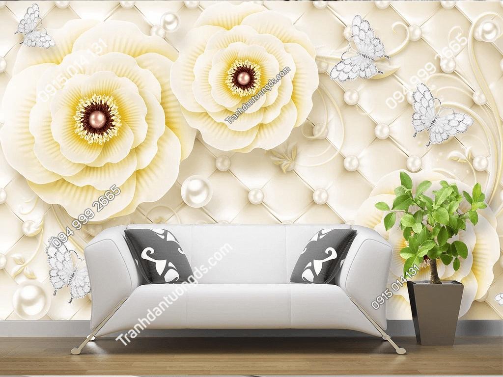 Tranh dan tuong hoa hong vang ngoc trai DS_17224441