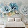 Tranh dan tuong hoa mau don xanh 5D011 phong ngu