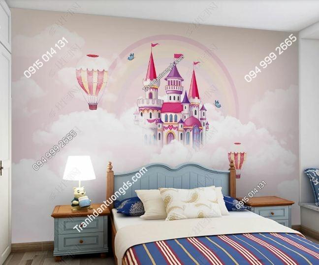 Tranh tường khinh khí cầu dán phòng trẻ em DS_24179612
