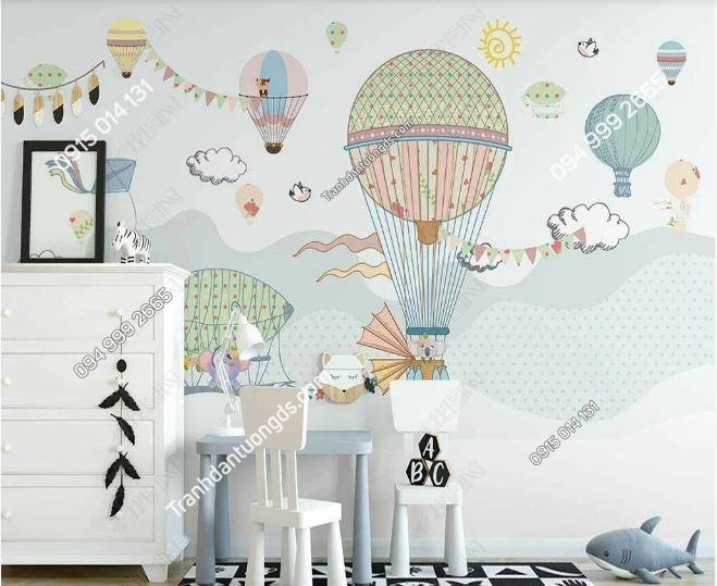 Tranh tường khinh khí cầu dán phòng trẻ em DS_25150566