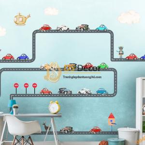 Tranh dán tường ô tô trẻ em 5D052