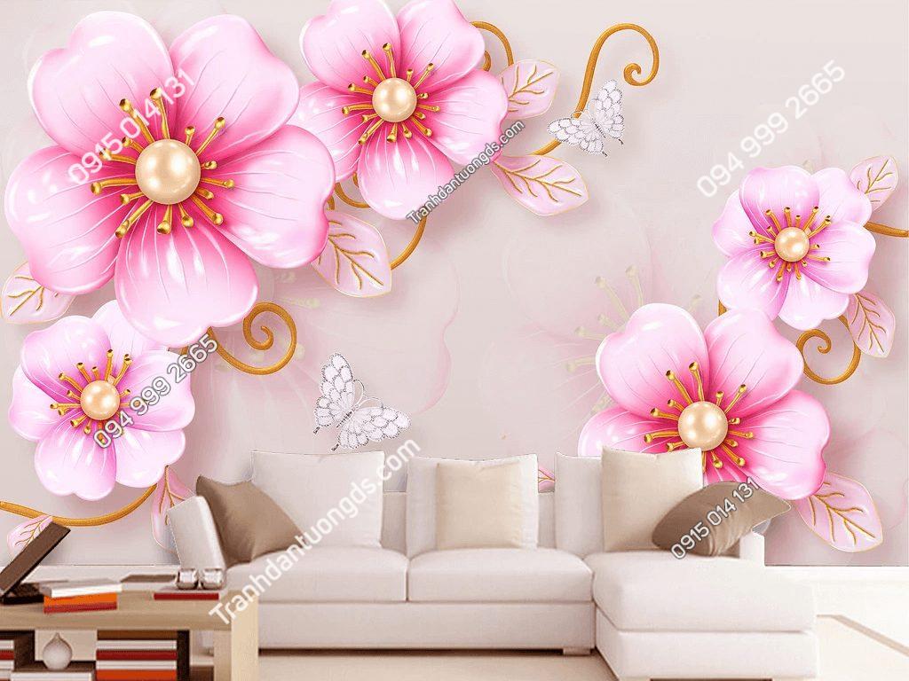 Tranh dán tường hoa anh đào 5D045