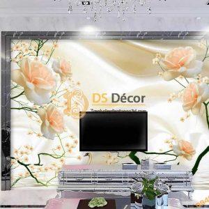 Tranh dán tường hoa hồng Silk Rose 5D044
