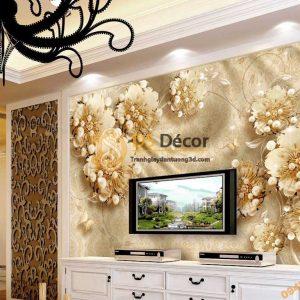 Tranh dán tường hoa ngọc trai 5D046