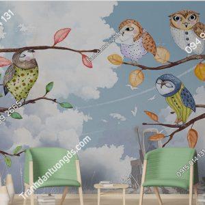 Tranh dán tường chim cú mèo DS_17289421