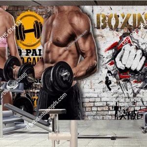 Tranh dán tường phòng Gym Boxing DS_18575400