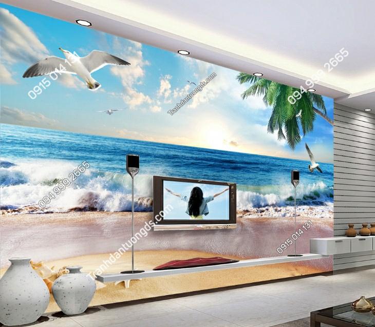 Tranh dán tường biển hiện đại 11150 demo