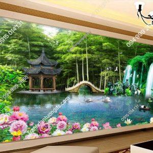 Tranh dán tường phong cảnh sơn thủy DS_13613428