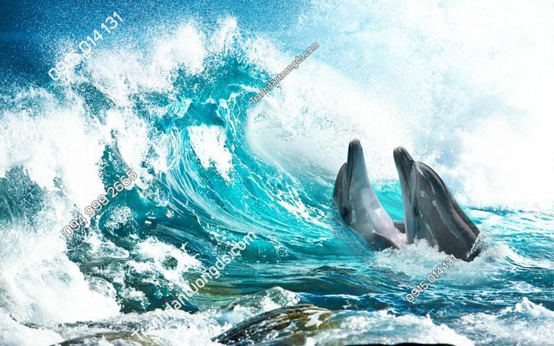 Tranh dán tường sóng biển 42
