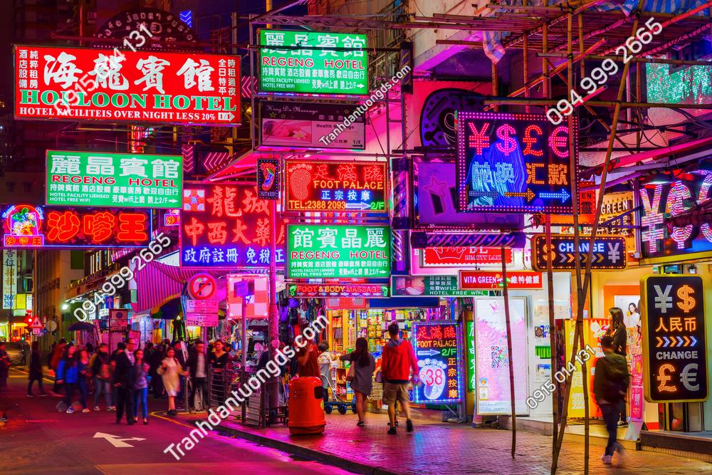 Tranh dán tường HONGKONG 2020