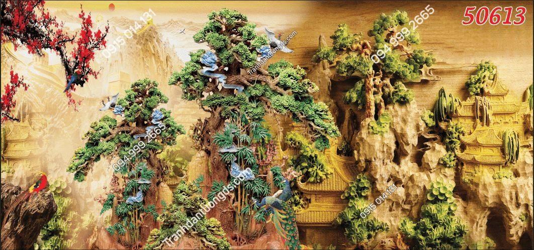 Tranh dán tường điêu khắc 50613