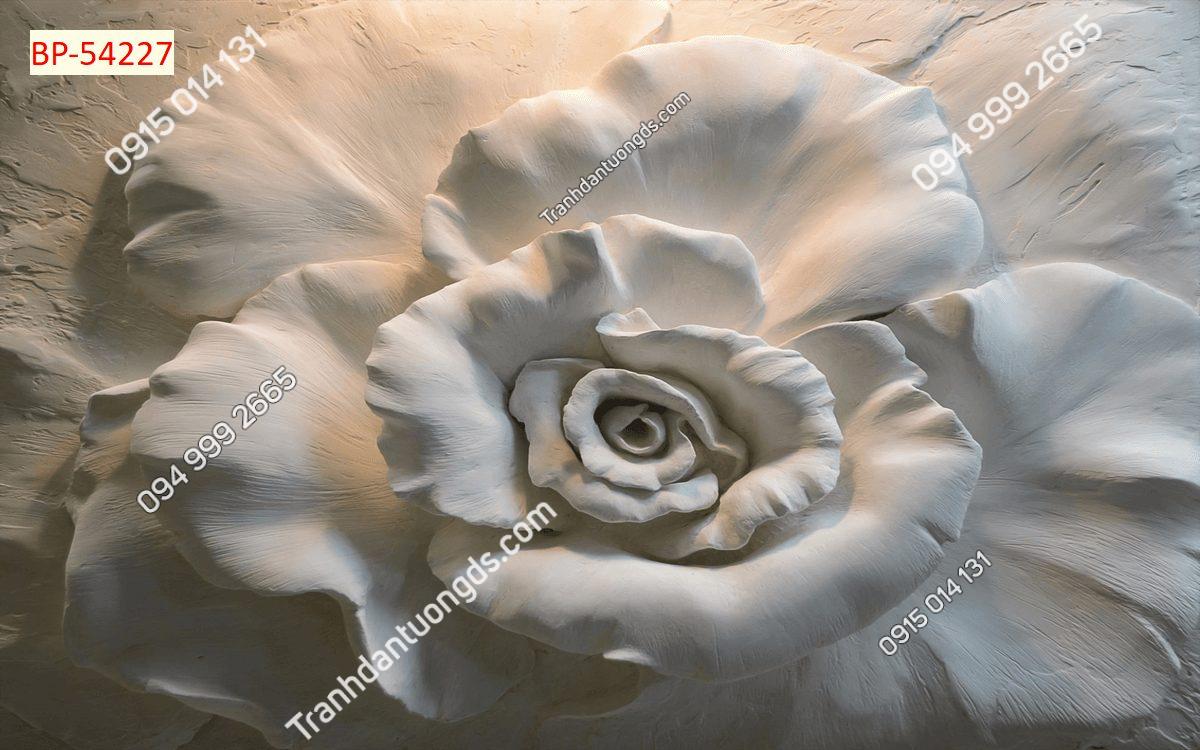 Tranh dán tường điêu khắc hoa 54227