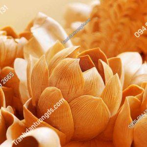 Tranh dán tường điêu khắc nhụy hoa DK81