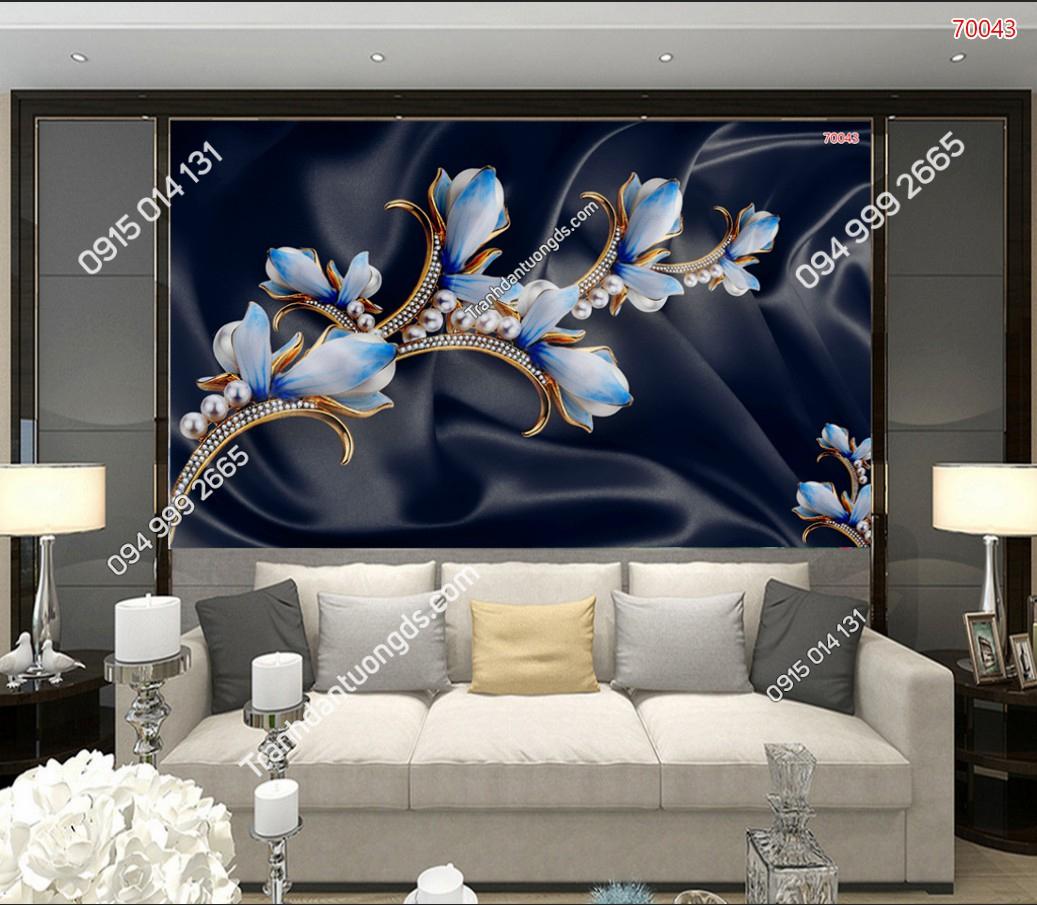 Tranh dán tường hoa 3D đẹp
