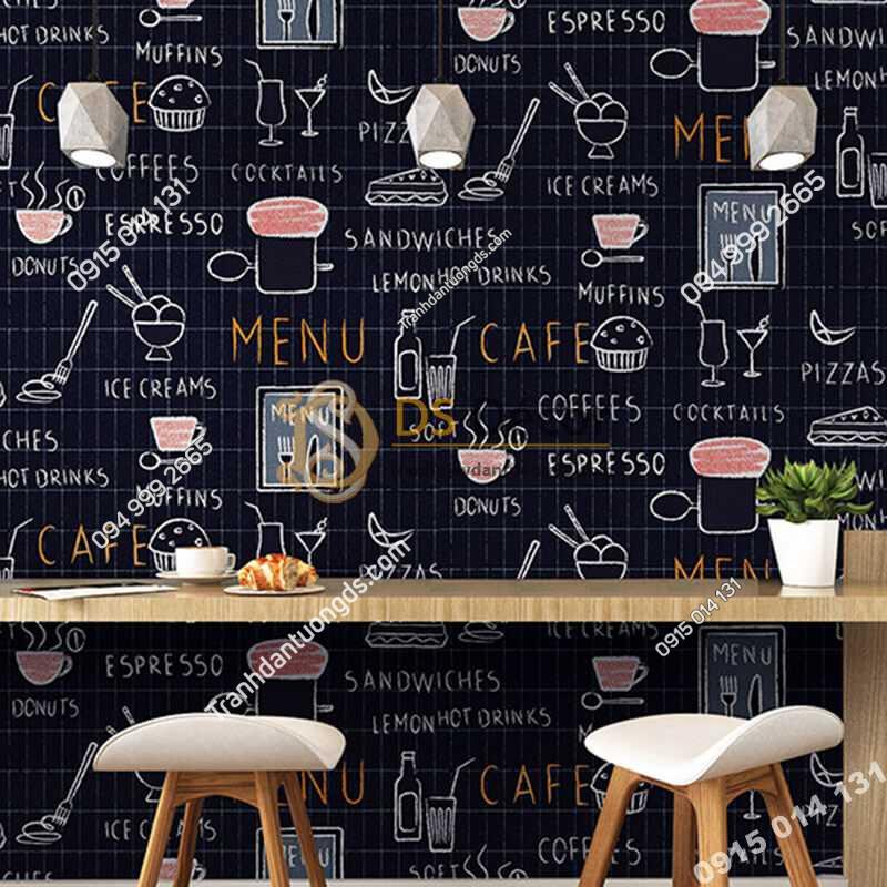 Giấy-dán-tường-cafe-trà-sữa-3D319-màu-đen
