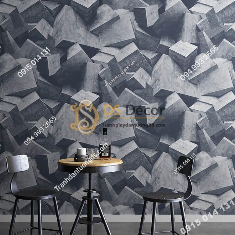 Giấy-dán-tường-họa-tiết-khối-đá-3-chiều-3D306