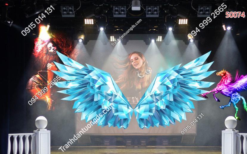Tranh cánh thiên thần cho quán cafe