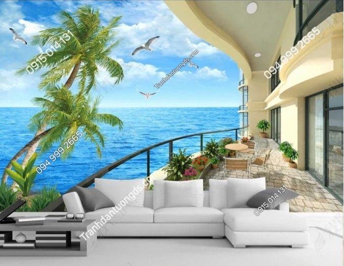 Tranh 5D cảnh biển - DS12631237