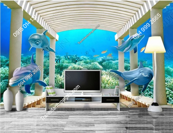 Tranh đại dương dán phòng khách - DS14057643