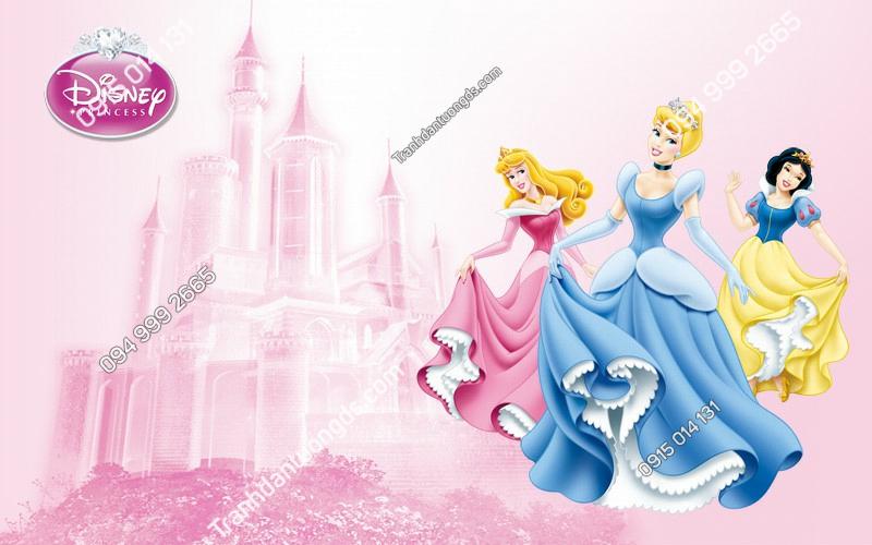 Tranh dán tường 3 nàng công chúa (344) copy