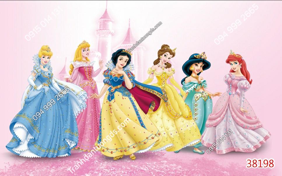Tranh dán tường 6 nàng công chúa 38198