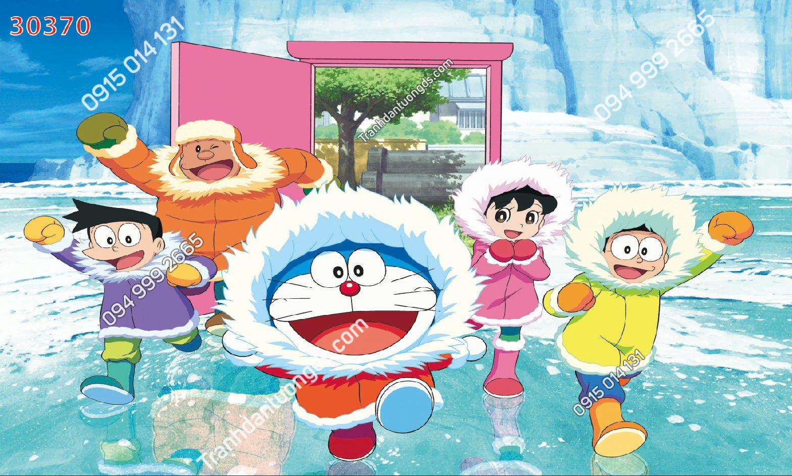 Tranh dán tường Doraemon và những người bạn 30370