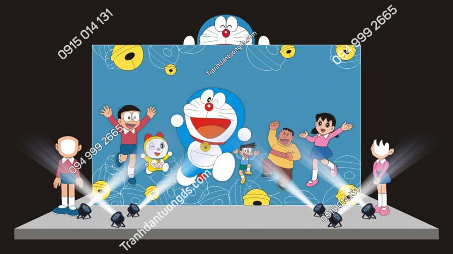 Tranh dán tường Doraemon và những người bạn TE207