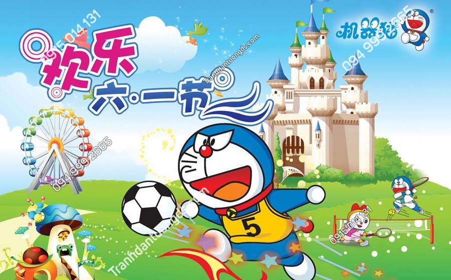Tranh dán tường Doraemon và những người bạn TE210