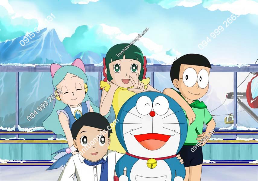 Tranh dán tường Doraemon và những người bạn TE219