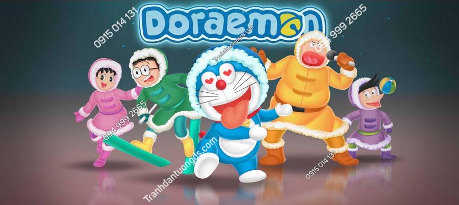 Tranh dán tường Doraemon và những người bạn TE225