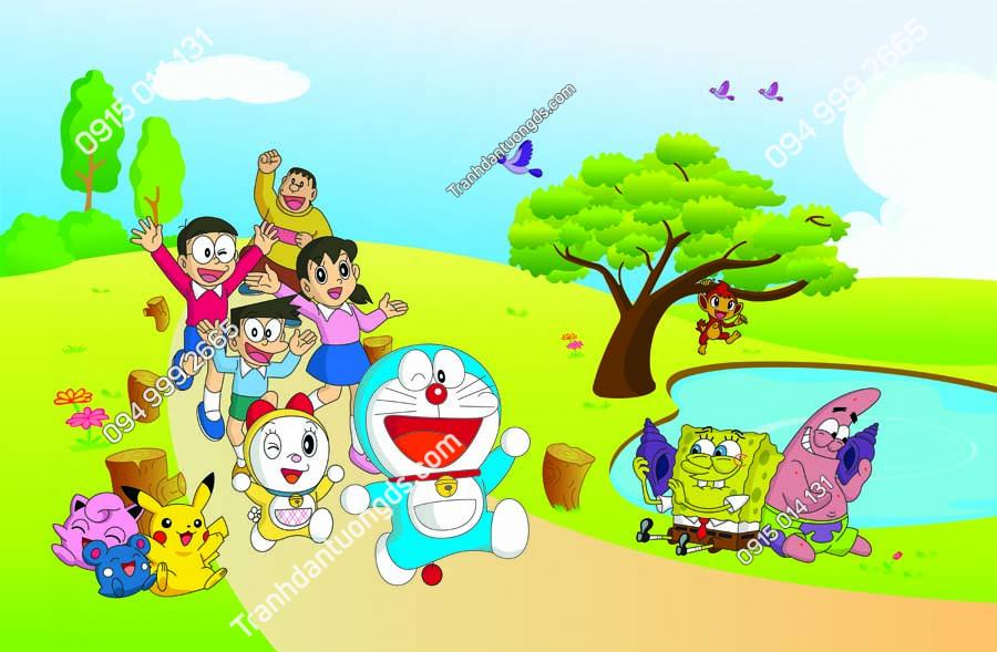 Tranh dán tường Doraemon và những người bạn TE226