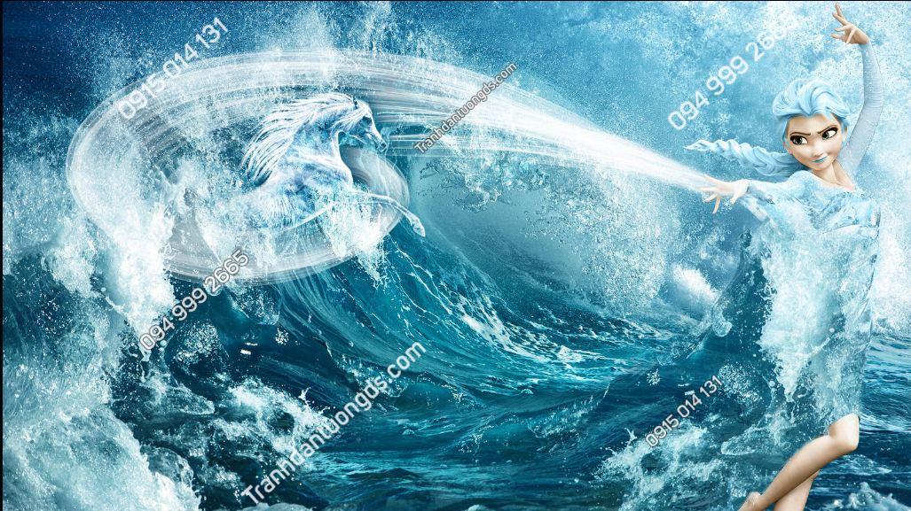 Tranh dán tường Elsa Sea Storm