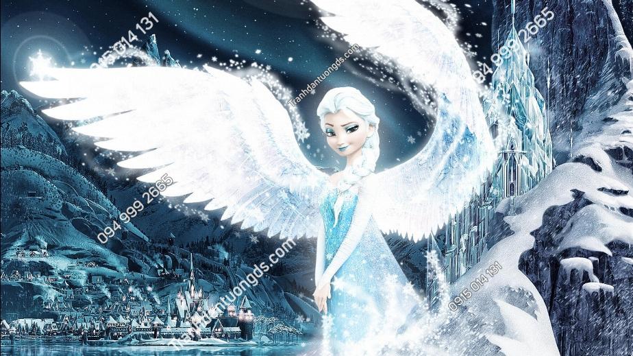Tranh dán tường Elsa Snow Night 2