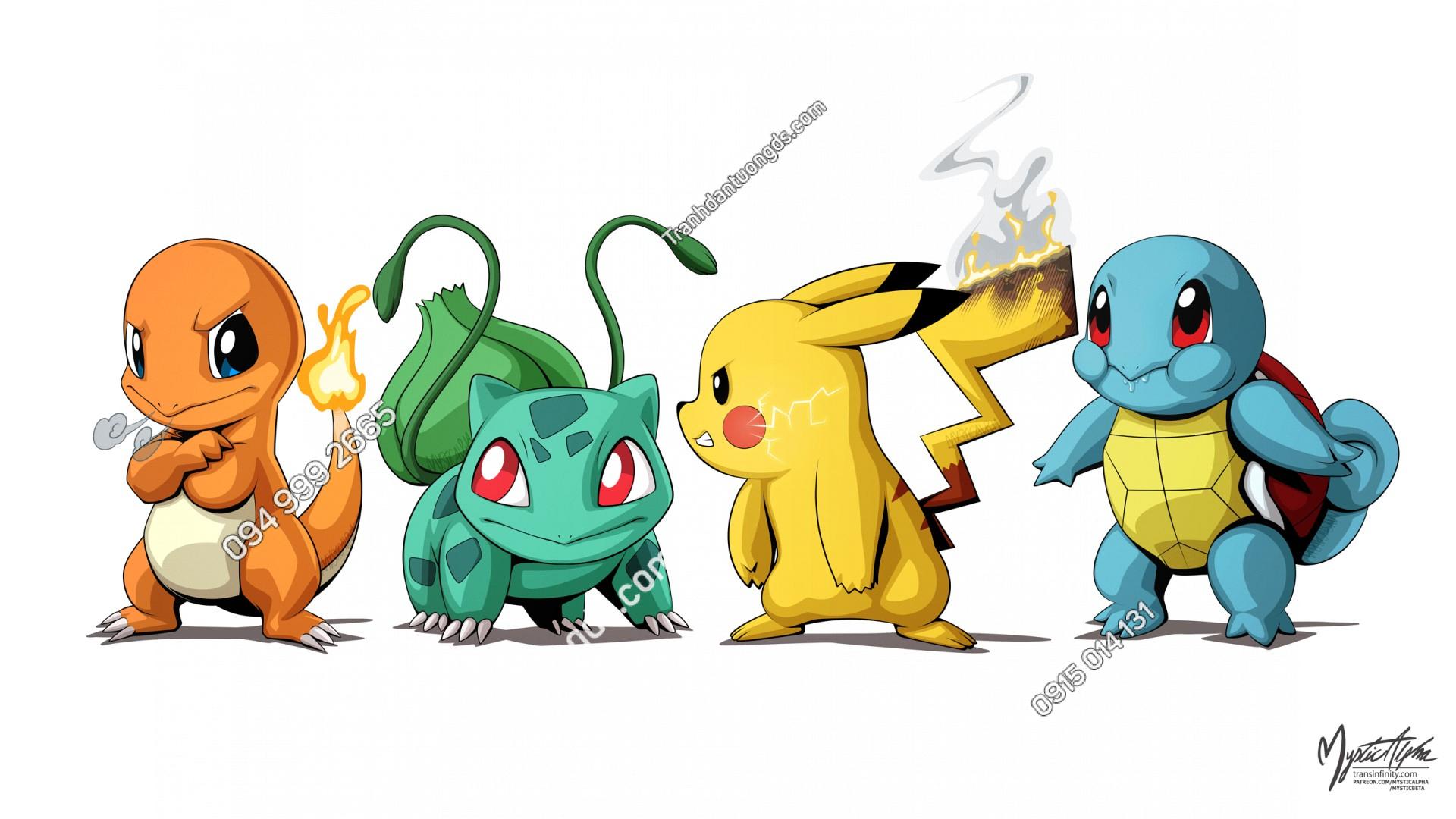 Tranh dán tường Group Pokemon