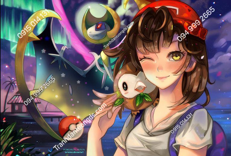 Tranh dán tường Pokemon Alola to the Moon