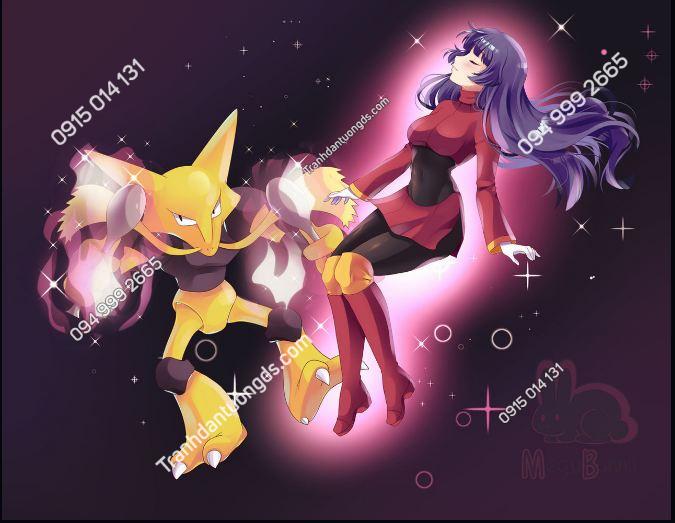 Tranh dán tường Pokemon Kanto - Sabrina