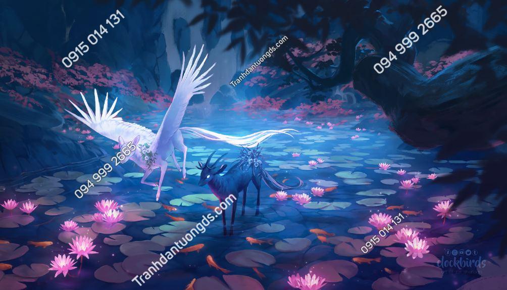 Tranh dán tường Pokemon afterglow