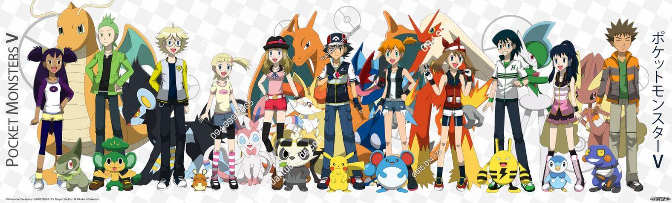 Tranh dán tường Pokemon và những người bạn