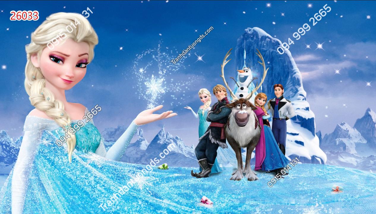 Tranh dán tường công chúa Elsa 26033