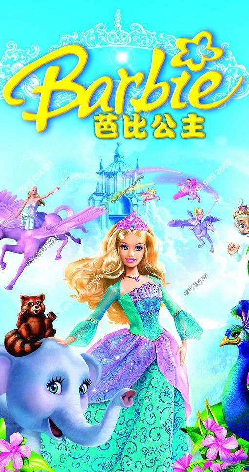 Tranh dán tường công chúa barbie - 11430 demo