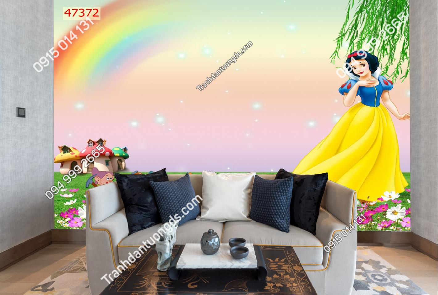 Tranh dán tường công chúa cầu vồng 47372-demo