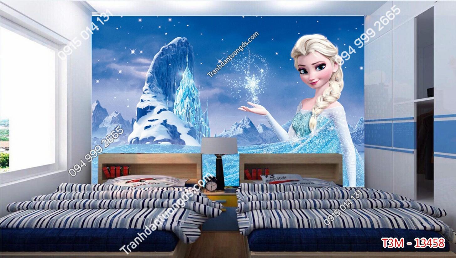 Tranh dán tường công chúa elsa - 13458 demo