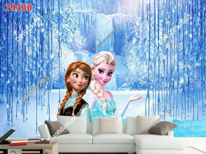 Tranh dán tường công chúa elsa và bạn -29430-demo