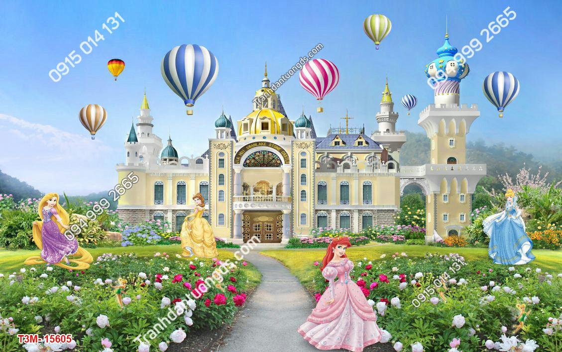 Tranh dán tường công chúa và lâu đài - 15605 DEMO