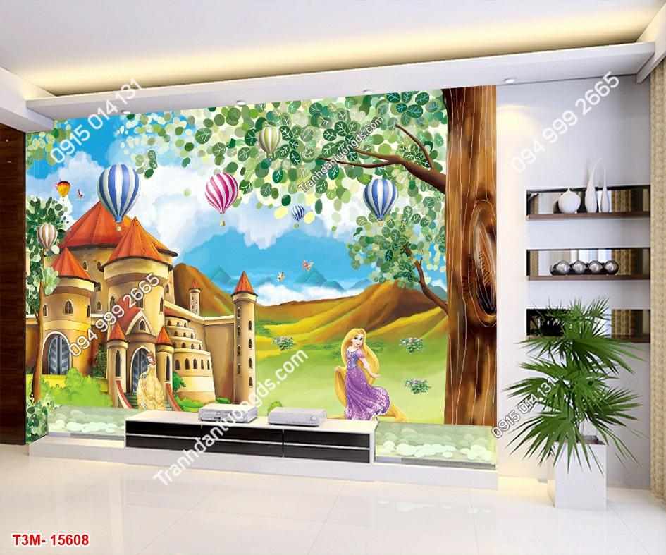 Tranh dán tường công chúa và lâu đài - 15608 DEMO