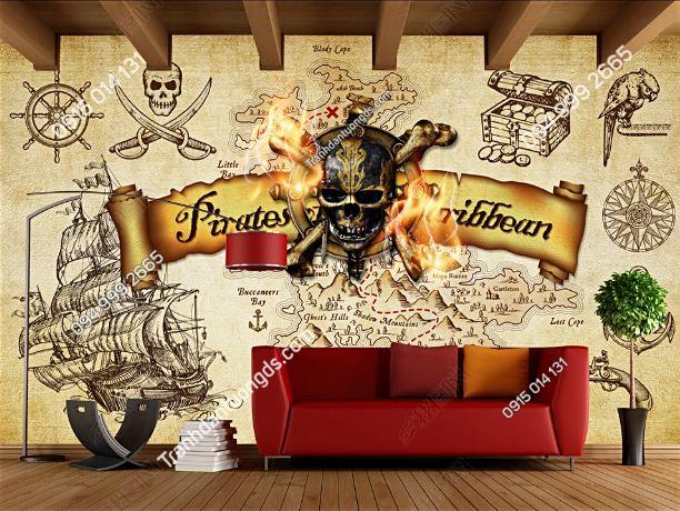 Tranh dán tường cướp biển Caribê DS16653905